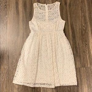 Nanette Lepore Ivory Eyelet Lace Shift Dress